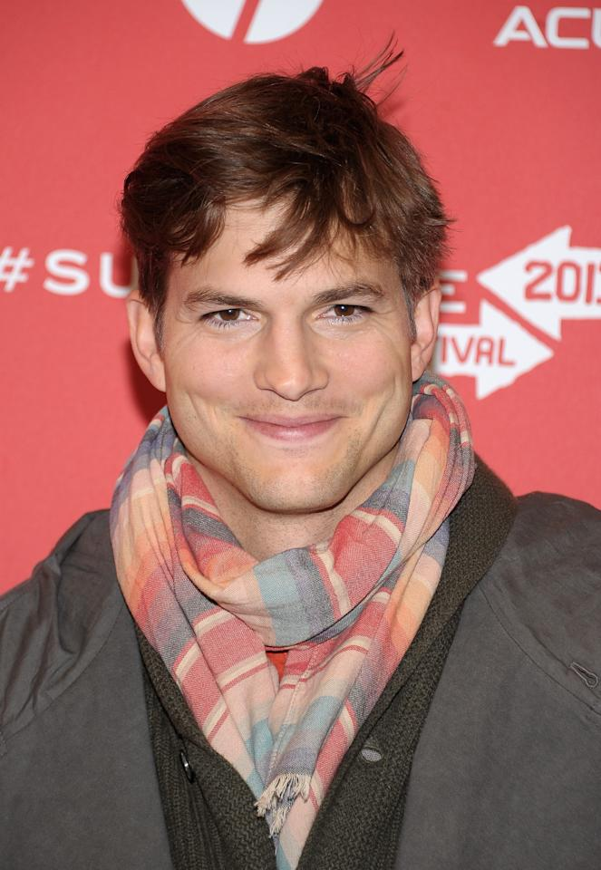 "PARK CITY, UT - JANUARY 25:  Actor Ashton Kutcher attends the ""jOBS"" Premiere during the 2013 Sundance Film Festival at Eccles Center Theatre on January 25, 2013 in Park City, Utah.  (Photo by Michael Loccisano/Getty Images)"