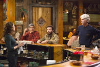 """<p><b>Where We Left Off: </b> Just as papa Beau (Sam Elliott) and mama Maggie (Debra Winger) seemed to be on the verge of a reconciliation after he saved the family ranch, Maggie disappeared. And just as Colt (Ashton Kutcher) decided to make an honest effort with girlfriend Heather (Kelli Goss), his high school sweetheart Abby (Elisha Cuthbert) told him she's having doubts about her fiancé. <br><br><b>Coming Up: </b> Colt's going to have to choose between a future with his current love and a future with his past love. As for his parents, their relationship will continue to be front and center too, inspired by that other sitcom where Kutcher and <i>The Ranch</i> co-star Danny Masterson first met. """"It's a multi-generational show. We don't necessarily have some set demographic that we have to appease,"""" says Kutcher, who, along with Masterson, is also an executive producer on <i>The Ranch</i>. """"We just want to tell really good stories. These characters are so rich. We intentionally cast [Elliott and Winger] because they're not traditional sitcom actors, and they can do deeper, grittier stuff."""" <br><br><b>That 2016 Show?: </b> So, about that <a href=""""https://www.instagram.com/p/BEzygr-kudj/?taken-by=dannymasterson"""" rel=""""nofollow noopener"""" target=""""_blank"""" data-ylk=""""slk:photo Danny Masterson Instagrammed"""" class=""""link rapid-noclick-resp"""">photo Danny Masterson Instagrammed</a> last spring, the one that includes Wilmer Valderrama, Mila Kunis, and Laura Prepon with Masterson and Kutcher on <i>The Ranch</i> set … what does it mean? """"I think that <i>maybe</i> people that are fans of [<i>That '70s Show</i>] might have something to look forward to in this next set of episodes,"""" Kutcher teases. <i>– KP</i> <br><br>(Credit: Netflix)</p>"""