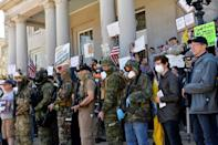 Pressure to ease virus measures is intense on leaders in the US, where the economy has been hammered with tens of millions left jobless and anti-lockdown protests erupting in many areas (AFP Photo/Joseph Prezioso)