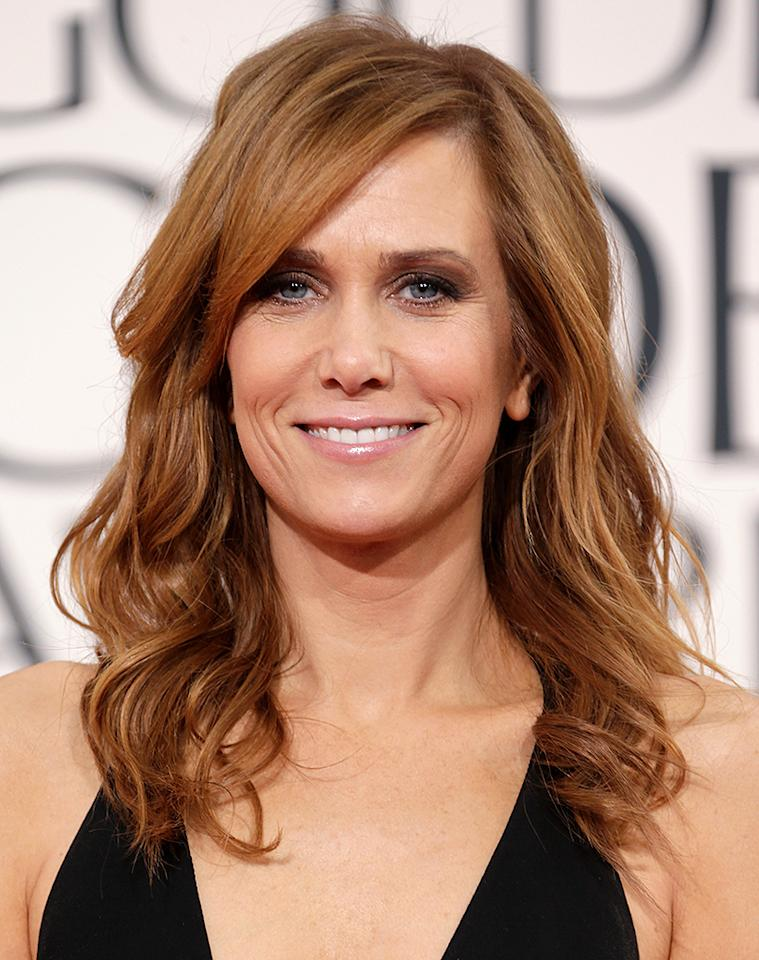 Kristen Wiig  arrives at the 70th Annual Golden Globe Awards at the Beverly Hilton in Beverly Hills, CA on January 13, 2013.
