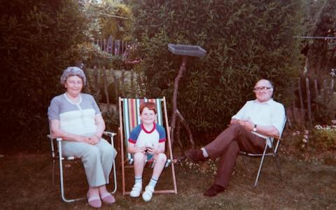 Clair Woodward's parents, Alice and Fred (with nephew Gerry): 'I spent most of my teenage years trying not to upset them in case they dropped dead' - Credit: Clair Woodward