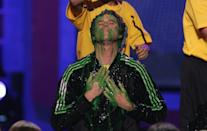 <p>Is he being slimed or having a religious awakening, you tell me.</p>