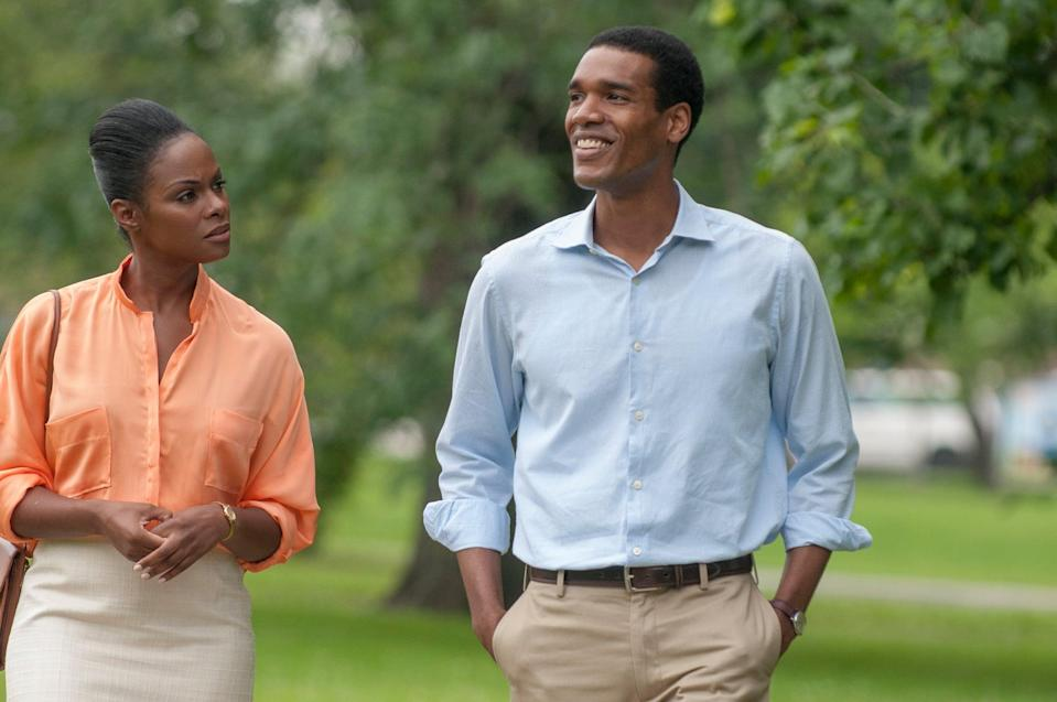 "<p>Illuminating the sweet details of the Obamas' first date (Michelle was technically her husband's boss),<strong> Southside With You</strong> is cute as hell. There are a few light jokes thrown in, but the best part about the movie is the easy connection between Tika Sumpter and Parker Sawyers, who perfectly portray the <a href=""https://www.popsugar.com/celebrity/Barack-Michelle-Obama-Cute-Couple-Pictures-41503655"" class=""link rapid-noclick-resp"" rel=""nofollow noopener"" target=""_blank"" data-ylk=""slk:power couple"">power couple</a>.</p>"