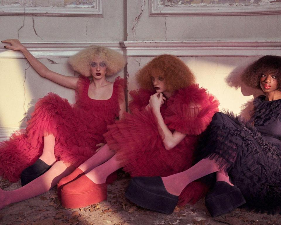 """<p><strong>Who: </strong>UGG</p><p><strong>What: </strong>Collaboration with Molly Goddard</p><p><strong>Where:</strong> Available at UGG.com, select global UGG® stores, and retail partners including Dover Street Market, Nordstrom, SSENSE and Blake</p><p><strong>Why:</strong> The wait is finally over! As soon as fashion industry favorite Molly Goddard debuted her collaboration with UGG on the runway of London Fashion Week last September, we've been drooling over the shoes she created with the Southern Californian shoe brand. Molly is known for her elegant yet playful designs, and her eye for color is unmatched. This collaboration highlights the whimsy of her vision with the platform slide in exuberant colors, a mini boot with floral pattern, and a furry slide that mimics some of Molly's designs. Grab a pair, and fast-- they definitely won't stay on the shelves for long!</p><p> <a class=""""link rapid-noclick-resp"""" href=""""https://go.redirectingat.com?id=74968X1596630&url=https%3A%2F%2Fwww.nordstrom.com%2Fs%2Fugg-x-molly-goddard-platform-mule-women%2F5816783%3Forigin%3Dcategory-personalizedsort%26breadcrumb%3DHome%252FDesigner%252FDesigner%2BNew%2BArrivals%26color%3Dgrass%2Bgreen&sref=https%3A%2F%2Fwww.elle.com%2Ffashion%2Fshopping%2Fg35685914%2Fmarch-2021-fashion-collaborations-launches%2F"""" rel=""""nofollow noopener"""" target=""""_blank"""" data-ylk=""""slk:SHOP NOW"""">SHOP NOW</a><br></p>"""