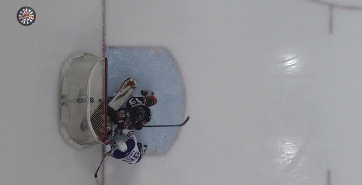 Screen shot of Drake Caggiula goal.