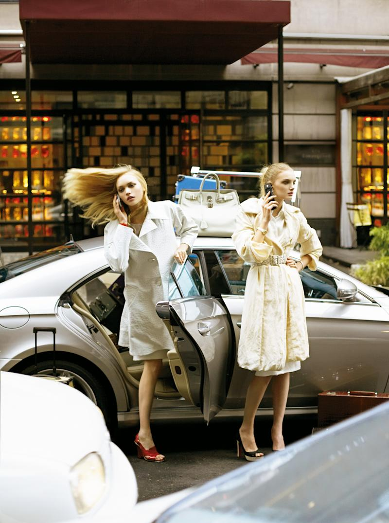 Ward with model Lily Donaldson in Vogue's February 2006 issue.