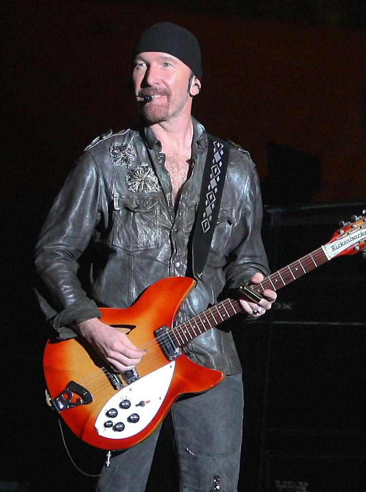 "U2's The Edge turns 50. John Parra/<a href=""http://www.wireimage.com"" target=""new"">WireImage.com</a> - June 29, 2011"
