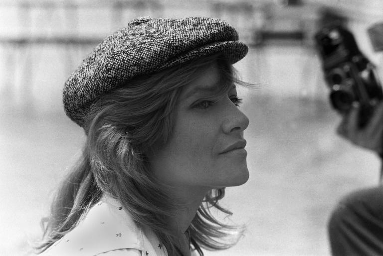 Nice hat: Nathalie Delon, who has died aged 79, at the Cannes film festival in 1993
