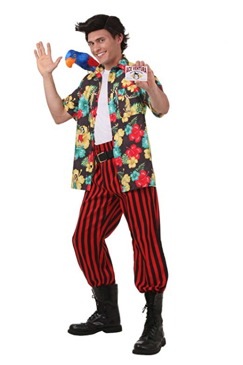 """<p><strong>Fun Costumes</strong></p><p>amazon.com</p><p><a href=""""http://www.amazon.com/dp/B0167MNA5G/?tag=syn-yahoo-20&ascsubtag=%5Bartid%7C10055.g.22074138%5Bsrc%7Cyahoo-us"""" rel=""""nofollow noopener"""" target=""""_blank"""" data-ylk=""""slk:Shop Now"""" class=""""link rapid-noclick-resp"""">Shop Now</a></p><p>The only thing you really need for this costume is <a href=""""https://www.amazon.com/28-Palms-Standard-Fit-Cotton-Hawaiian/dp/B076J2YVFX?tag=syn-yahoo-20&ascsubtag=%5Bartid%7C10055.g.22074138%5Bsrc%7Cyahoo-us"""" rel=""""nofollow noopener"""" target=""""_blank"""" data-ylk=""""slk:a great Hawaiian shirt"""" class=""""link rapid-noclick-resp"""">a great Hawaiian shirt</a>. Bonus: Have your friend dress up as the Miami Dolphin's Mascot that you find at the end of the party.</p>"""