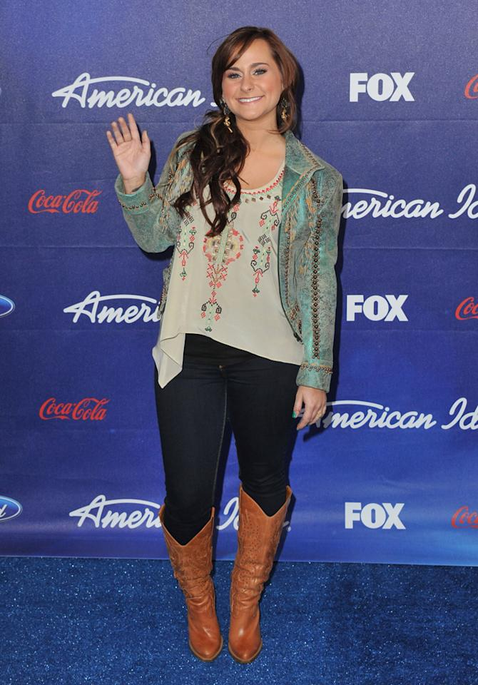 """Finalist Skylar Laine attends the Season 11 """"<a href=""""http://tv.yahoo.com/american-idol/show/34934"""">American Idol</a>"""" Top 13 Finalists Party on Thursday, March 1 at The Grove in Los Angeles, CA."""