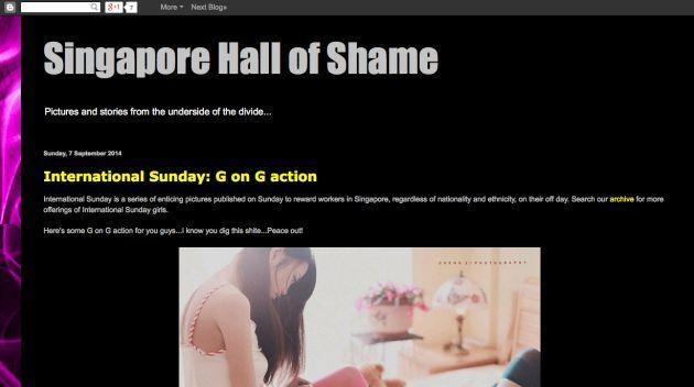 A 2014 screengrab from local sex blog Singapore Hall of Shame. Many Singaporean models say their nude photos have been uploaded onto sites like this without their consent. (Screengrab from Singapore Hall of Shame)
