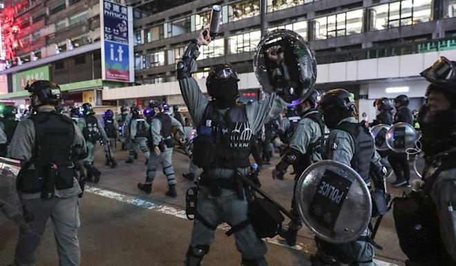 Tensions have risen between Hong Kong's police and protesters. Photo: Edmond So