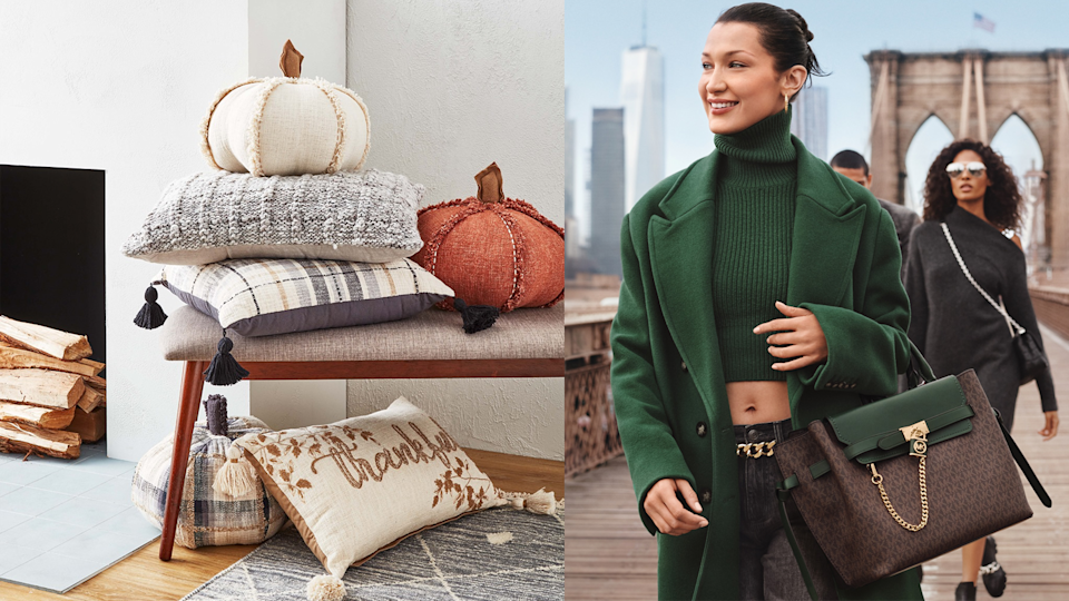 Save big this weekend on home décor and fall fashion pieces.