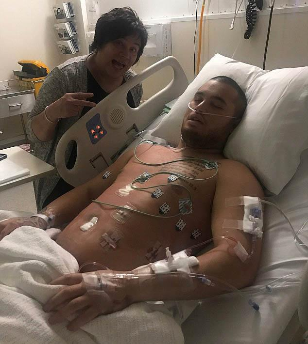 Stan's recovery was very painful, but he had his mum by his side. Photo: Instagram/stanwalker