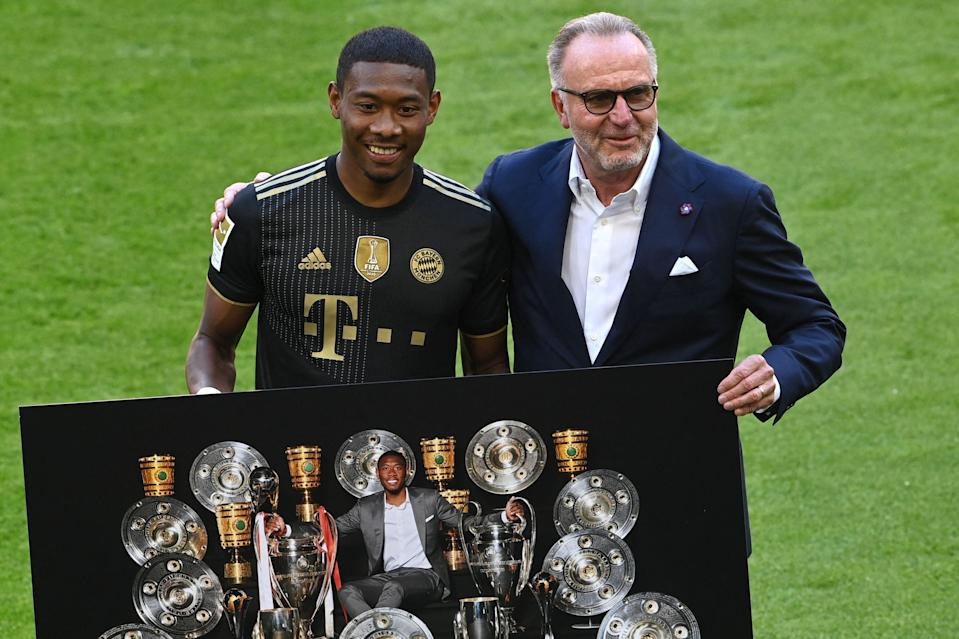 <p>David Alaba bid an emotional farewell to Bayern Munich after 13 years</p> (POOL/AFP via Getty Images)