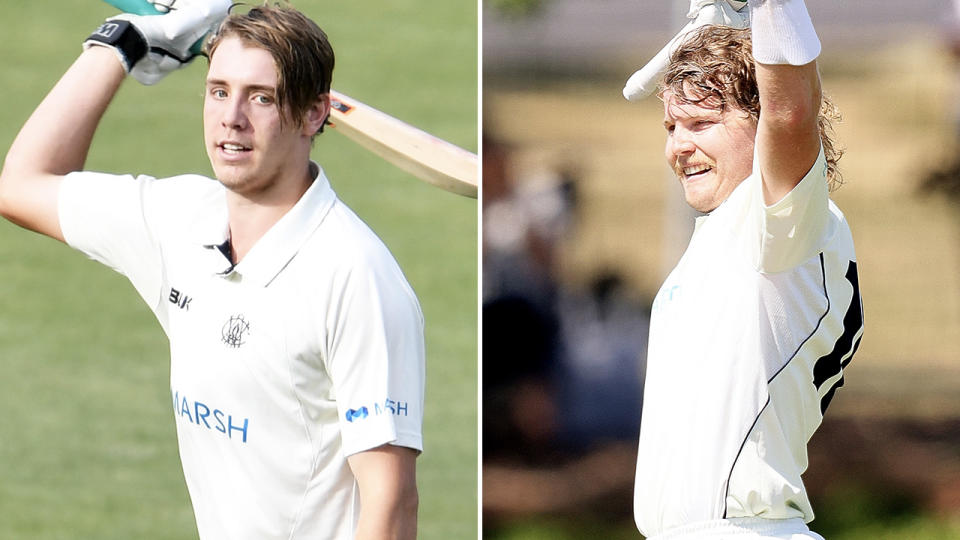 Cameron Green and Will Pucovski, pictured here in action in the Sheffield Shield.