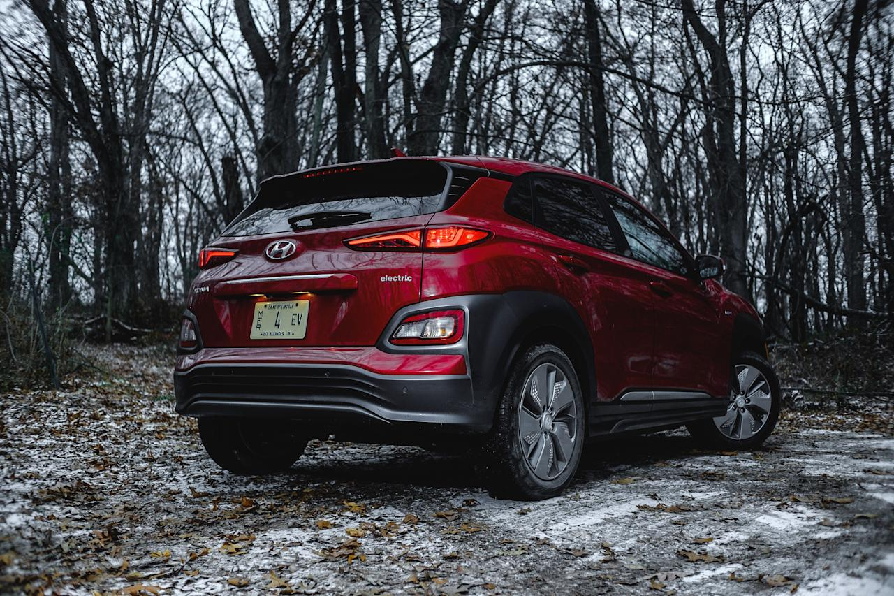 """<p><strong></strong></p><p>caranddriver.com</p><p><a href=""""https://www.caranddriver.com/hyundai/kona-electric"""" target=""""_blank"""">Learn More</a></p><p>How did the Hyundai Kona EV land on our 10Best Trucks and SUVs list its first year on the market? Much of the credit goes to the fact that it looks and drives much like the gas-powered Kona that arrived last year. We're impressed by the Kona's punchy engine and unique styling. The Kona EV has all that plus an EPA-estimated range of 258 miles on a single charge. The cabin is spacious for a vehicle with such a small footprint, and like most Hyundais, the Kona comes with a long list of standard and optional features. Throw in a reasonable price, and it's easy to see why the Hyundai Kona EV is also one of our Editors' Choice winners.</p>"""