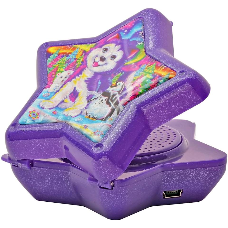 <p>They'll be able to rock out to Backstreet Boys with this <span>Lisa Frank Husky Dog Pup Compact Star Speaker</span> ($25). </p>