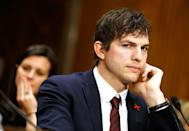"""<p><strong>Real name: </strong>Christopher Ashton Kutcher</p><p>The <a href=""""https://www.youtube.com/watch?v=f6-lEGEgIzk"""" rel=""""nofollow noopener"""" target=""""_blank"""" data-ylk=""""slk:actor joked"""" class=""""link rapid-noclick-resp"""">actor joked</a> about his real name at the 2013 Kids Choice Awards, commenting, """"My name is not even actually Ashton."""" He decided to go by his middle name when he was first trying to make it in Hollywood at the age of 19.</p>"""