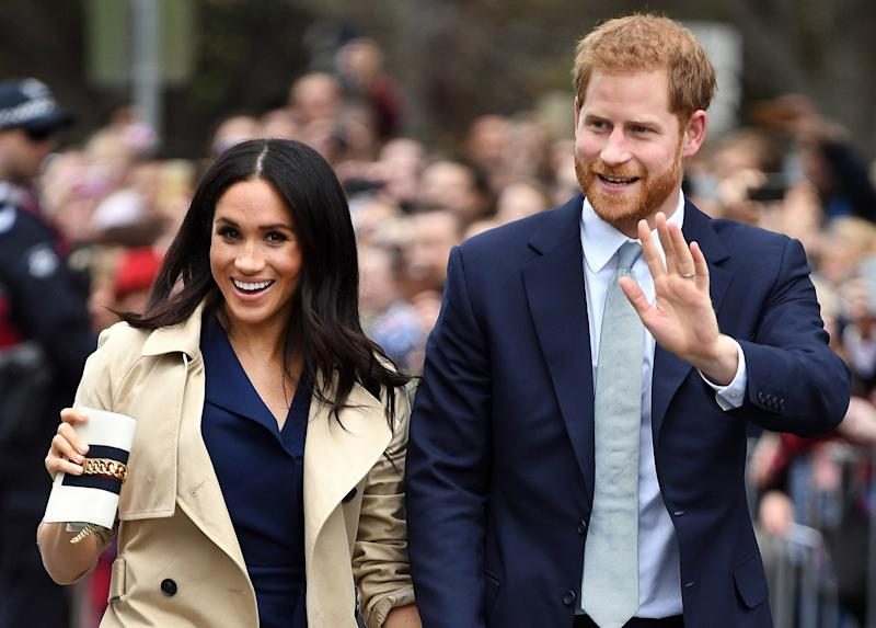 In Australia, Meghan Markle was briefly spotted with a cell phone in her hands, which apparently excited and confused many.