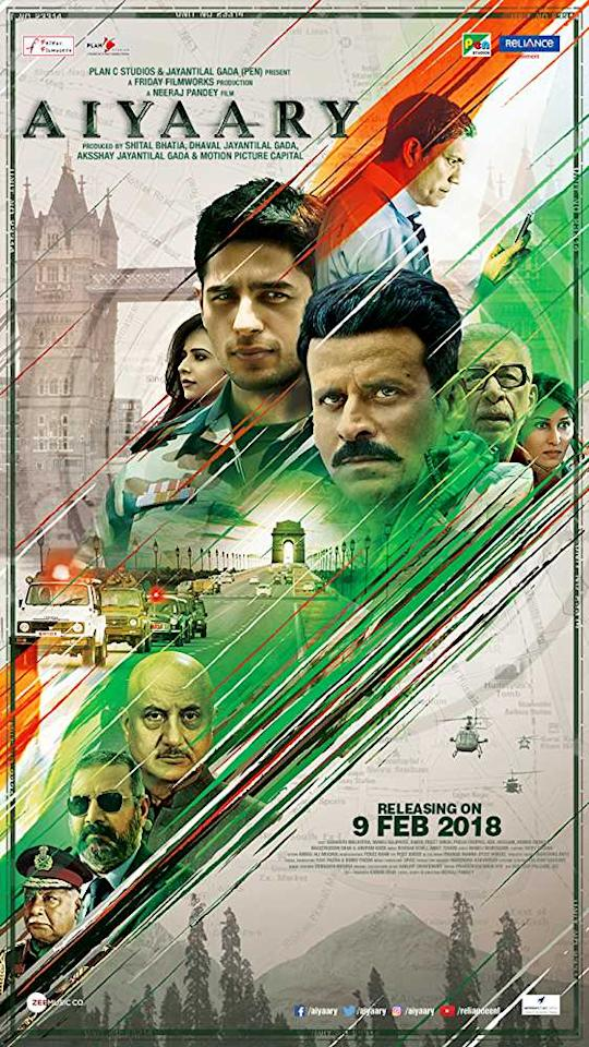 <p>Based on the true story of a mentor and student duo, Aiyaary tells the tale of two strong-minded Army officers, who face clashes owing to their difference in opinion. While Manoj Bajpayee plays the mentor, Sidharth Malhotra plays his protege and Rakul Preet Singh is Sidharth's love interest in the movie, playing the role of an IT professional. </p>