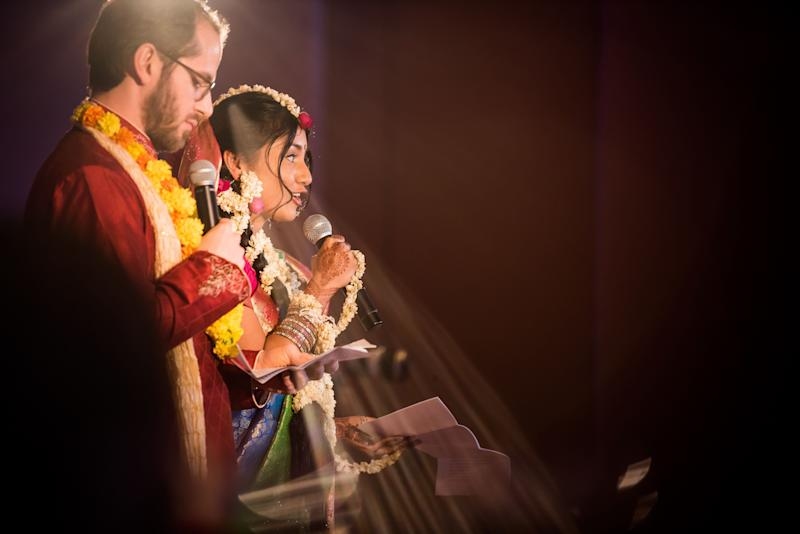 """The couple giving the toast is a simple photograph, but during that speech they announced that all the gifts and proceeds from their wedding will be donated to help kids in Nepal get a better education. I thought this was so absolutely selfless and thoughtful for such a young couple."" -- <i>Mari Harsan</i>"