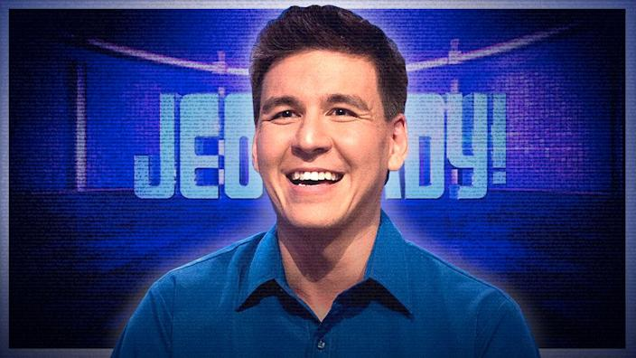Jeopardy champion, James Holzhauer. (Photo illustration: Yahoo News; photos: Sony Pictures Entertainment)