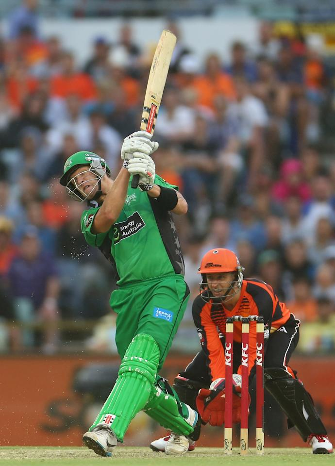 PERTH, AUSTRALIA - JANUARY 16:  Cameron White of the Stars bats during the Big Bash League semi-final match between the Perth Scorchers and the Melbourne Stars at the WACA on January 16, 2013 in Perth, Australia.  (Photo by Robert Cianflone/Getty Images)