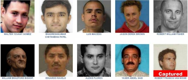 List of wanted fugitives by FBI