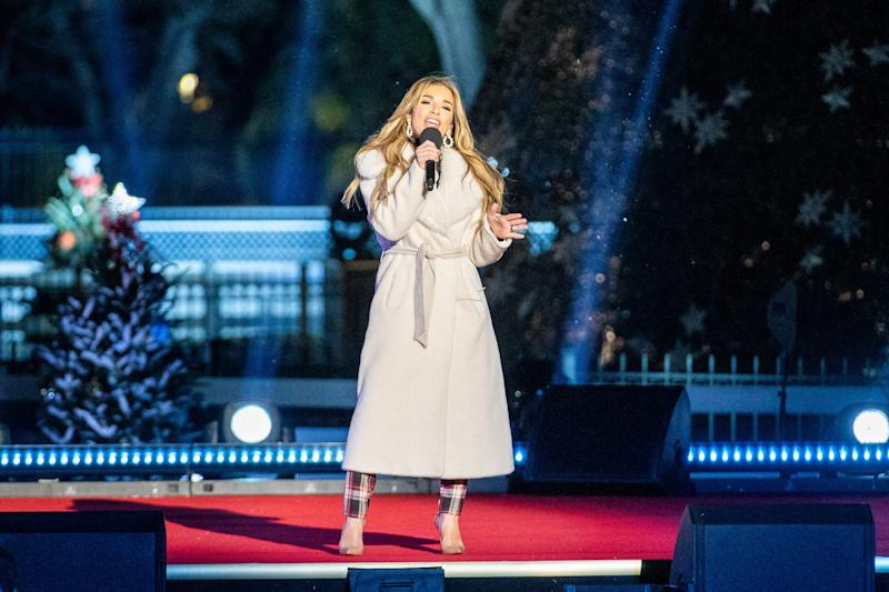 Jessie James Decker performed at the 2019 National Christmas Tree Lighting Ceremony on Dec. 5, 2019.