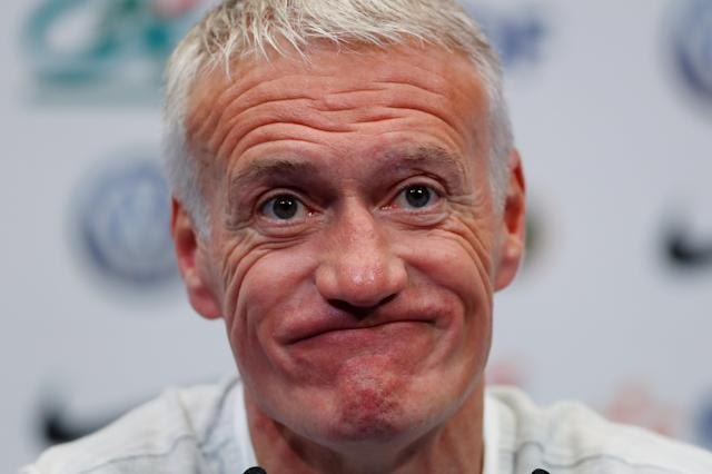 Soccer Football - FIFA World Cup - France Press Conference - Domaine de Montjoye, Clairefontaine, France - May 23, 2018 France coach Didier Deschamps during the press conference REUTERS/Gonzalo Fuentes