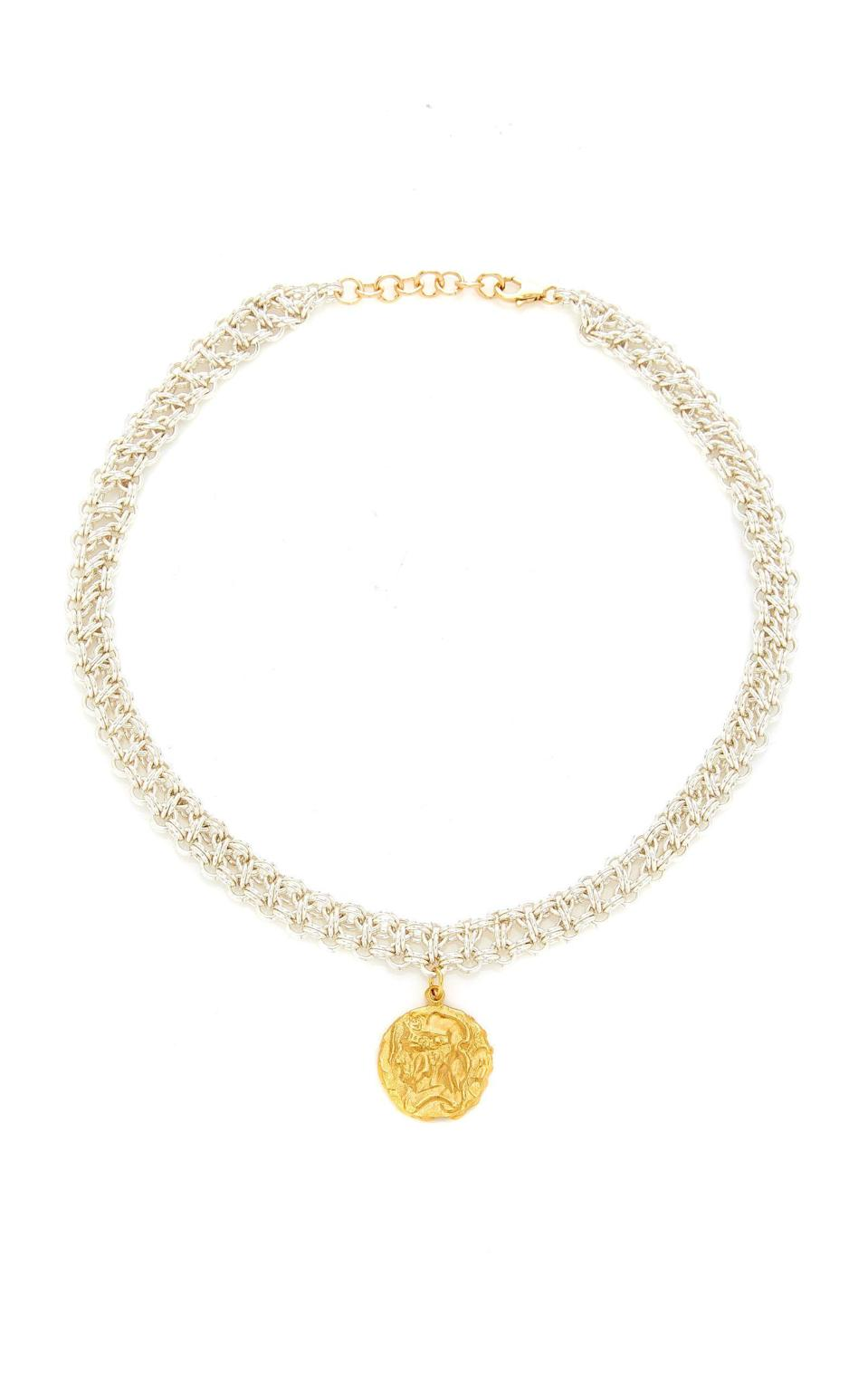 """<p><strong>Alighieri</strong></p><p>modaoperandi.com</p><p><strong>$600.00</strong></p><p><a href=""""https://go.redirectingat.com?id=74968X1596630&url=https%3A%2F%2Fwww.modaoperandi.com%2Falighieri-ss20%2Fthe-woven-tapestry-amulet-24k-gold-plated-bronze-necklace&sref=https%3A%2F%2Fwww.townandcountrymag.com%2Fstyle%2Ffashion-trends%2Fg32701003%2Feco-friendly-gifts%2F"""" rel=""""nofollow noopener"""" target=""""_blank"""" data-ylk=""""slk:Shop Now"""" class=""""link rapid-noclick-resp"""">Shop Now</a></p><p>Alighieri designer Rosh Mahtani won the Queen Elizabeth II Award for British Design earlier this year for her innovative designs—she uses recycled brass and bronze for her modern talisman collectibles—and her commitment to local manufacturers—her jewelry is produced in Hatton Garden, London's historic jewelry quarter. </p>"""