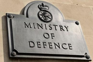 Ministry of Defence bronze plaque