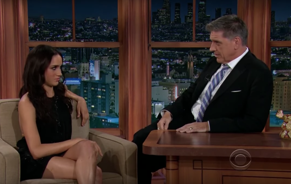 Meghan Markle's interview with former 'The Late Late Show' host Craig Ferguson was awkward to say the least [Photo: YouTube]