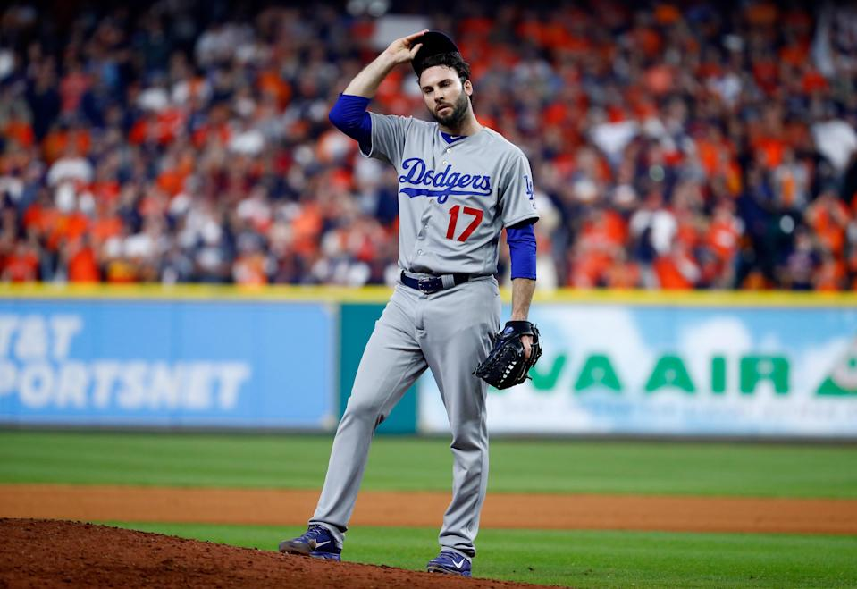 Brandon Morrow gave up four runs to the Astros while throwing just six pitches in the seventh inning of World Series Game 5. (Getty Images)