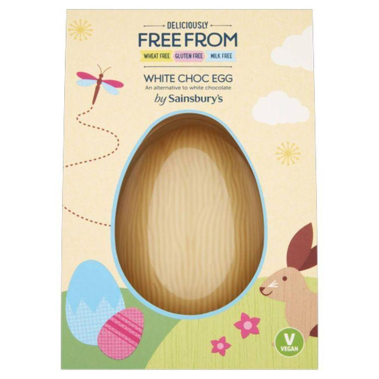 """<p>You genuinely can't beat white chocolate (whatever its form, we're into it), and that should be true for vegans, too, which is why we're so interested in Sainsbury's Free From offering. </p><p>Sainsbury's Deliciously Free From White Chocolate Egg, £3.50, Sainsbury's </p><p><a class=""""link rapid-noclick-resp"""" href=""""https://www.sainsburys.co.uk/shop/gb/groceries/product/details/easter-eggs-and-chocolate-/sainsburys-deliciously-free-from-white-chocolate-egg-100g-check-your-local-store-for-available-range-"""" rel=""""nofollow noopener"""" target=""""_blank"""" data-ylk=""""slk:BUY NOW"""">BUY NOW</a><br></p>"""