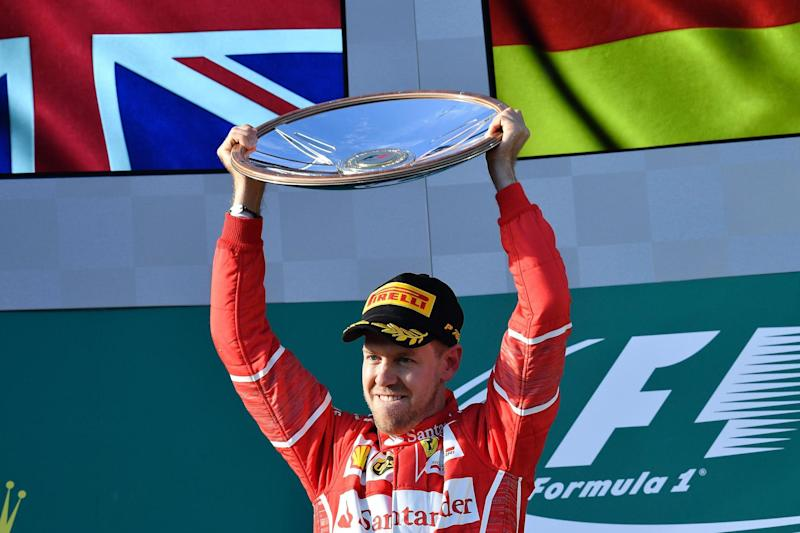 Season opener | Sebastian Vettel won the Australian Grand Prix: AFP/Getty Images