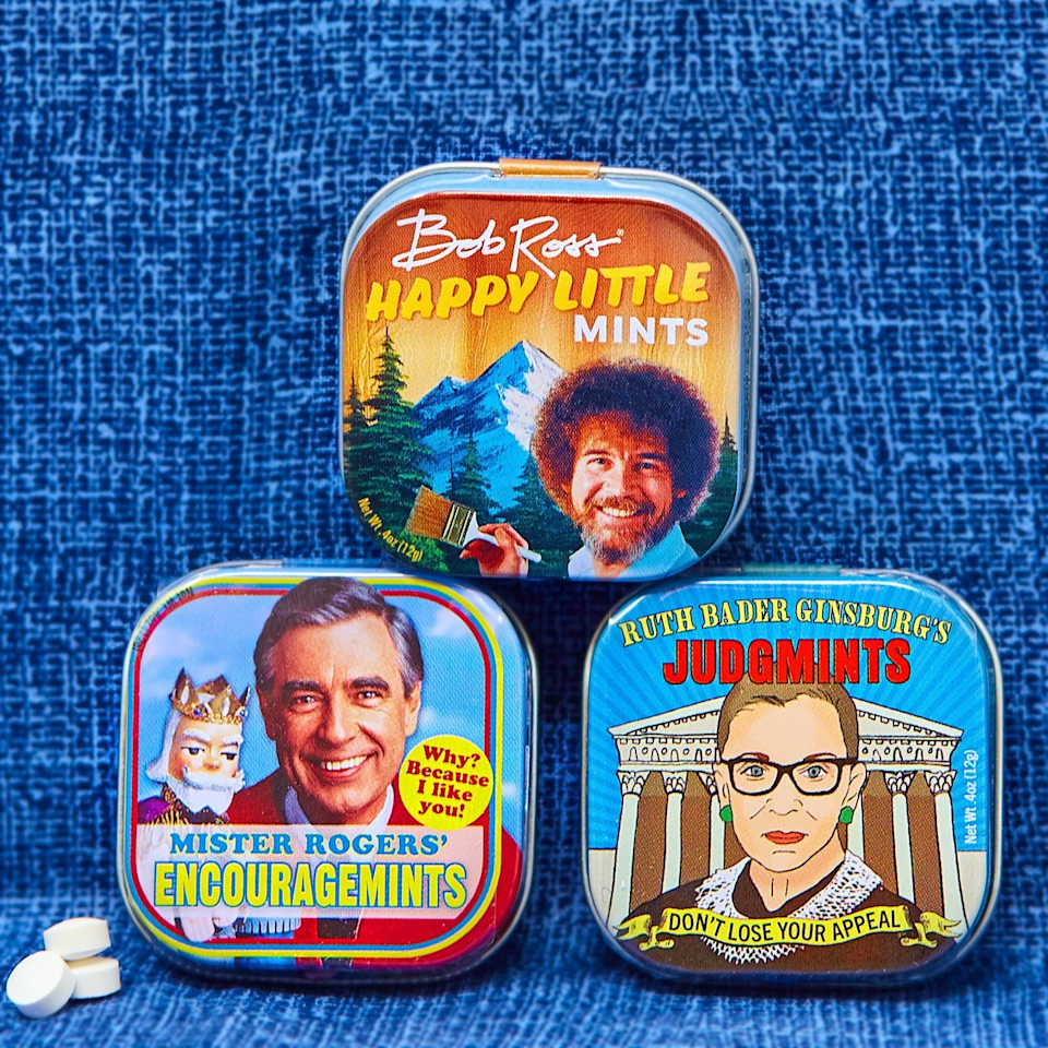 "<br><br><strong>Always Fits</strong> Tin of Encouragemints, $, available at <a href=""https://go.skimresources.com/?id=30283X879131&url=https%3A%2F%2Falwaysfits.com%2Fcollections%2Fgift-ideas%2Fproducts%2Fmister-rogers-encouragemints"" rel=""nofollow noopener"" target=""_blank"" data-ylk=""slk:Always Fits"" class=""link rapid-noclick-resp"">Always Fits</a>"