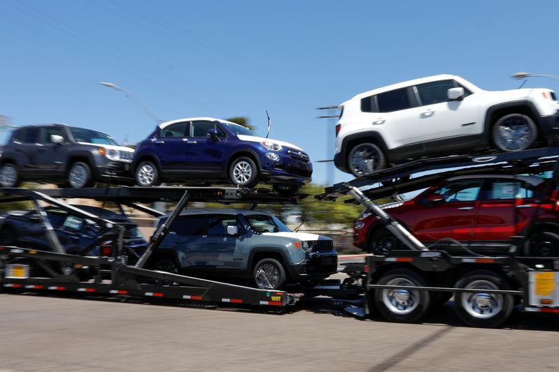 Imported vehicles are shown out for delivery in National City, California