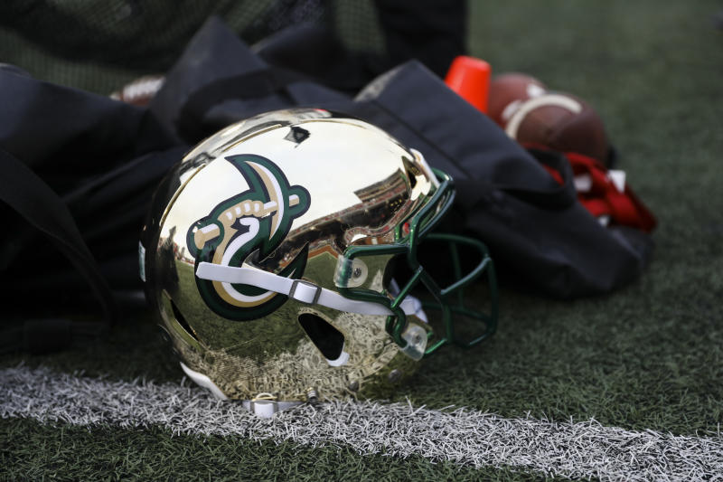 BOWLING GREEN, KENTUCKY - OCTOBER 19: A Charlotte 49ers helmet sits on the sideline during during the game against the Western Kentucky Hilltoppers on October 19, 2019 in Bowling Green, Kentucky. (Photo by Silas Walker/Getty Images)