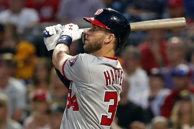 Bryce Harper will participate in his second Home Run Derby. (AP Photo/Gene J. Puskar)