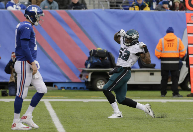 Philadelphia Eagles outside linebacker Nigel Bradham has been suspended for the season opener. (AP)