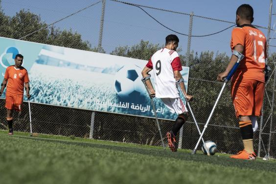 Gaza's amputee football association has 80 players and hopes in the near future to start a women's league (Bel Trew)
