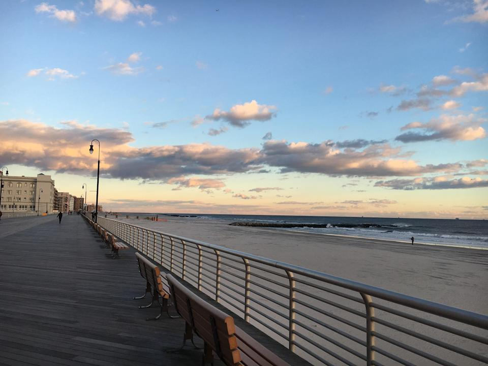 """Rebuilt in 2013 post-Hurricane Sandy, the Long Beach boardwalk is just one reason to take the easy 50-minute train ride from Manhattan out. The surfable waves are another. Keep in mind that a <a href=""""http://www.longbeachny.gov/beach"""" rel=""""nofollow noopener"""" target=""""_blank"""" data-ylk=""""slk:day pass"""" class=""""link rapid-noclick-resp"""">day pass</a> onto the beach will cost you $12, but you can check <a href=""""http://lirr.org"""" rel=""""nofollow noopener"""" target=""""_blank"""" data-ylk=""""slk:lirr.org"""" class=""""link rapid-noclick-resp"""">lirr.org</a> for occasional One-Day Getaway deals that include a rail ticket, beach pass, and coupon to participating local vendors all for $22. Either way, the laid-back out-of-city feel makes the price worth it."""