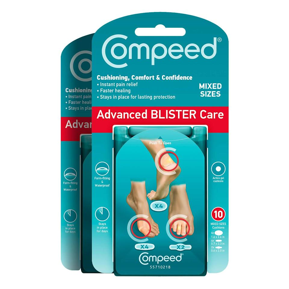 "<h2>Compeed Advanced Blister Care Cushions</h2> <br>""As lockdown restrictions ease, I've been turning to tennis as my socially distant activity of choice these days (I've got the gnarly blisters on both my hands and feet to prove it). Luckily, I found these blister cushions which stay in place for days and offer immediate pain relief. I was shocked at how well they worked and at the fact that I've been able to keep playing even before my blisters heal."" <em>– Amanda Randone, Market Writer</em><br><br><em>Shop <strong><a href=""https://amzn.to/2ZLwtzc"" rel=""nofollow noopener"" target=""_blank"" data-ylk=""slk:Compeed"" class=""link rapid-noclick-resp"">Compeed</a></strong></em><br><br><strong>Compeed</strong> Advanced Blister Care Cushions, $, available at <a href=""https://amzn.to/2C2U1Hr"" rel=""nofollow noopener"" target=""_blank"" data-ylk=""slk:Amazon"" class=""link rapid-noclick-resp"">Amazon</a><br><br><br>"