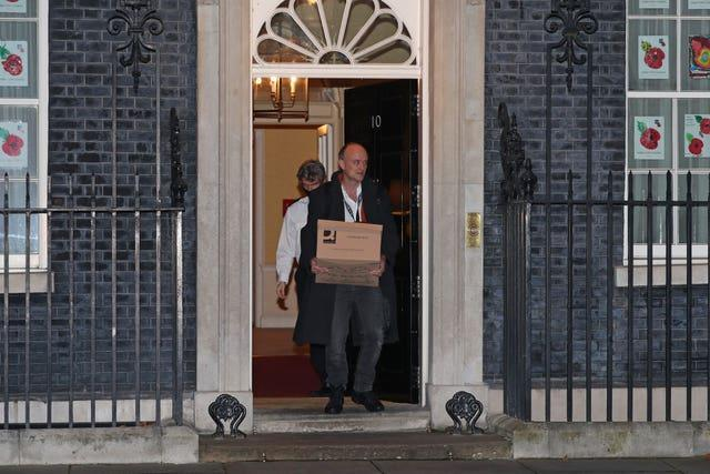Dominic Cummings left Downing Street towards the end of 2020 (Yui Mok/PA)