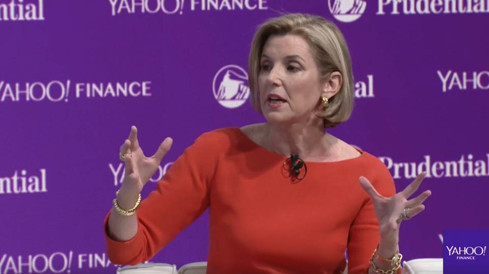 Ellevest CEO and Wall Street legend Sallie Krawcheck at Yahoo Finance's annual All Markets Summit on Wednesday.
