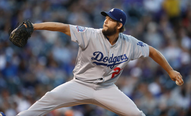 Los Angeles Dodgers ace Clayton Kershaw came through again in a big game against the Rockies. (AP)
