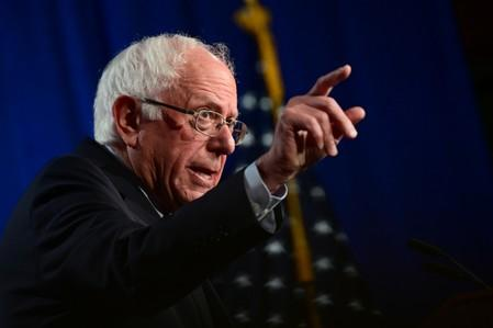 "Sanders delivers a speech on ""Medicare for All"" at George Washington University"