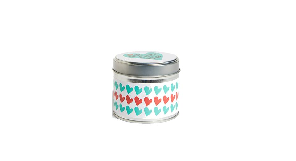 Give a Little Love Hearts Candle Tin